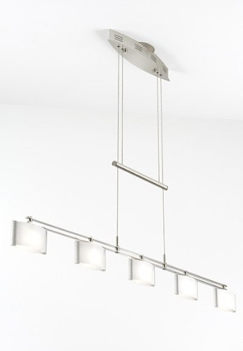 Holtkoetter 5515 SN GB50 Halogen Low-Voltage Contemporary Chandelier, Satin Nickel with B-50 Glass