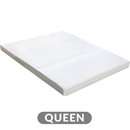 "Milliard Tri Folding Mattress | Ultra Soft Washable Cover | Queen {78"" x 58"" x 4""}"