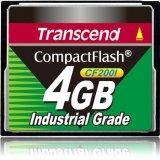 Transcend TS4GCF200I 4 GB CompactFlash (CF) Card - 1 Card - TS4GCF200I