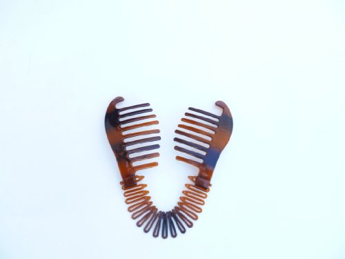 Interlocking Banana Combs Hair Clip French Side Comb Holder 80s 90s Soft And Bendable Plastic Updo Hair Clip Tort