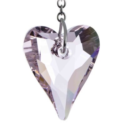 25f934bbb Swarovski Hanging Crystal Suncatcher/Rainbow Maker with 27mm Rose Pink Wild  Heart Crystal: Amazon.co.uk: Kitchen & Home