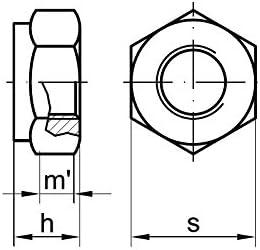 5 Stk DIN 980 Sicherungsmutter M12x1,5 Festigkeit 10 Stahl verzinkt