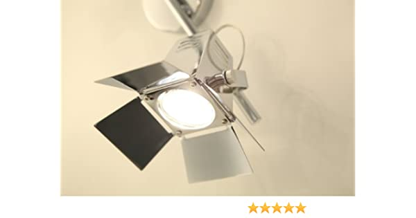 Brilliant G07813/15 - Lámpara de techo, diseño de 2 focos de cine, color cromado: Amazon.es: Hogar