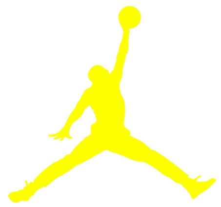 Amazon Air Jordan Nike Jumpman Logo Vinyl Sticker Decal Yellow 9 Inch Home Kitchen