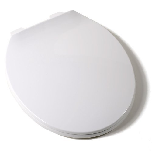 outlet Comfort Seats C1B3R300 Deluxe Plastic Contemporary Toilet Seat, Round, White by Comfort Seats