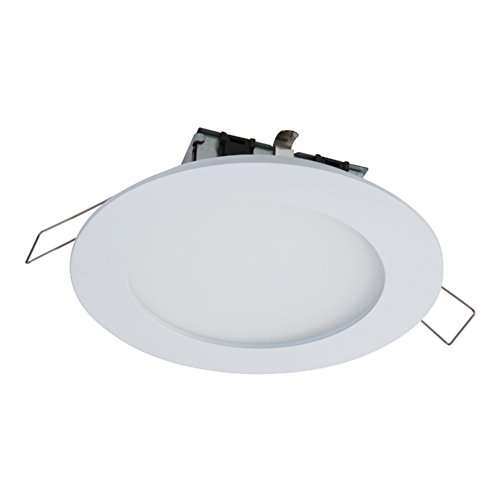 HALO SMD4R6930WHDM SMD-Dm Lens Round Integrated Led Surface Mount Recessed Downlight Trim, 3000K Soft (No Can Needed), 4.85 In, White