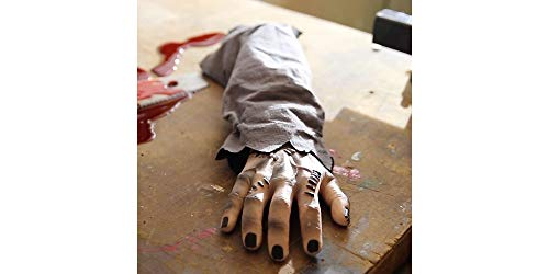 Animated Snapping Zombie Hand Halloween Decoration and Prop, 5 1/2