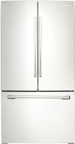 26 cu. ft. French Door Refrigerator With Twin Cooling Plus System Gallon Door Bins EZ-Open Handle Two Humidity Controlled Crispers & In ()