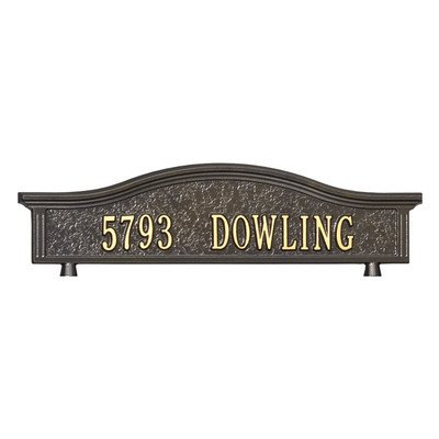 Personalized Address Mailbox Topper Finish: Bronze and Gold