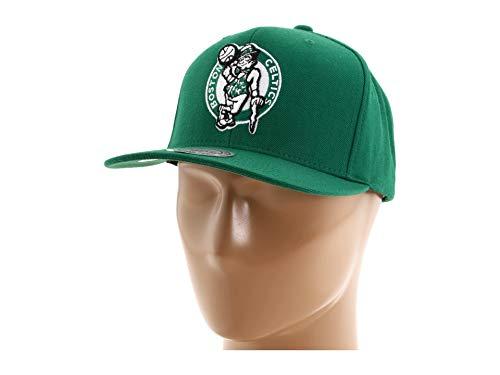 NBA Mitchell & Ness Boston Celtics Hardwood Classics Basic Vintage Logo Snapback Hat - Kelly Green