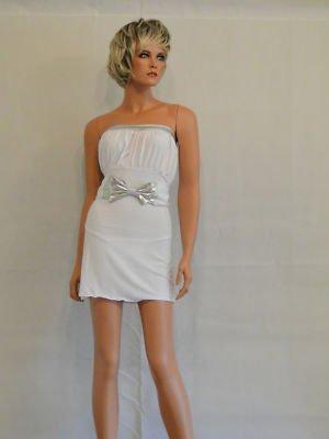 Sexy para mujer de color blanco y plateado estructura metálica e instrucciones para hacer vestidos de
