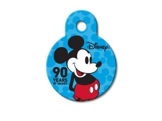 Disney Mickey Mouse 90th Anniversary Personalized Custom Engraved Pet ID Tags- (SMALL Circle Tag (7/8