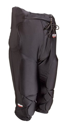 Schutt  Youth Polyester All-In-One FB Pants, Black, Medium