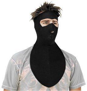 Zan Headgear Neoprene Full Face Mask With Neck Shield (BLACK)