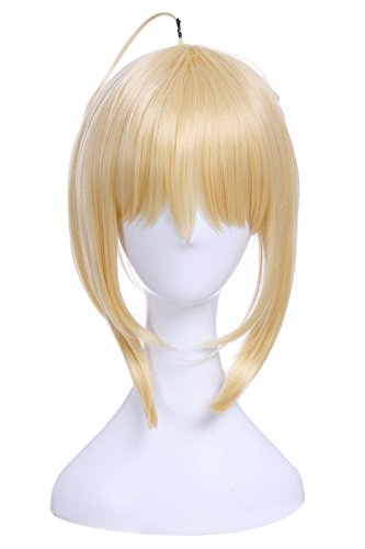 Nuoqi Arturia Pendragon Cosplay Wig Womens Fate Stay Night Saber Alter Anime Wig Human Hairs