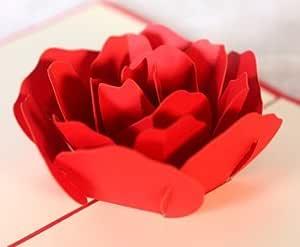 Rose grande 3D Pop UP Tarjetas de la tarjeta de felicitación de la ...