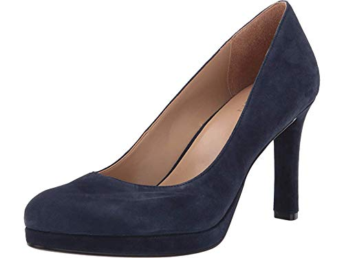 Naturalizer Women's Teresa Pump, Inky Navy Suede, 7.5 M US by Naturalizer