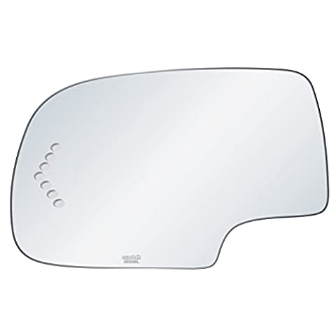 exactafit 8720SL Replacement Power Side Mirror Glass Lens fits Driver's Left Hand LH for Chevrolet Chevy Cadillac GMC GM Escalade Avalanche Silverado Tahoe Sierra Yukon by Rugged - Suburban Driver Mirror Glass