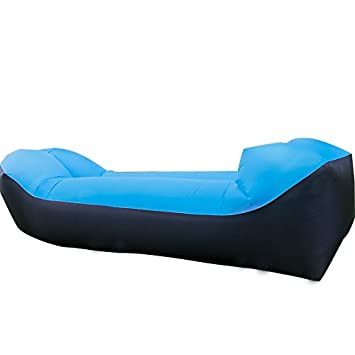 Amazon.com: Tumbona Inflable Aire sofá, silla con cuello ...