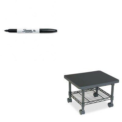 (KITSAF5206BLSAN30001 - Value Kit - Safco Underdesk Printer/Fax Stand (SAF5206BL) and Sharpie Permanent Marker (SAN30001))