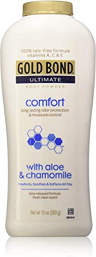 Gold Bond Ultimate Comfort with Aloe Body Powder – 100% Talc-free, 10 Oz by Chattem