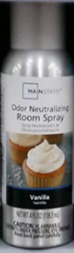 Mainstays Odor Neutralizing Room Spray, Vanilla, 4 fl oz by Mainstay