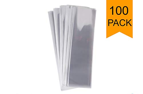 (Golden Leaf Pack of 100 Clear Cello/Cellophane Bags, 2 X 10-Inch (5x25.4cm). Perfect Pretzel Bag or Long)