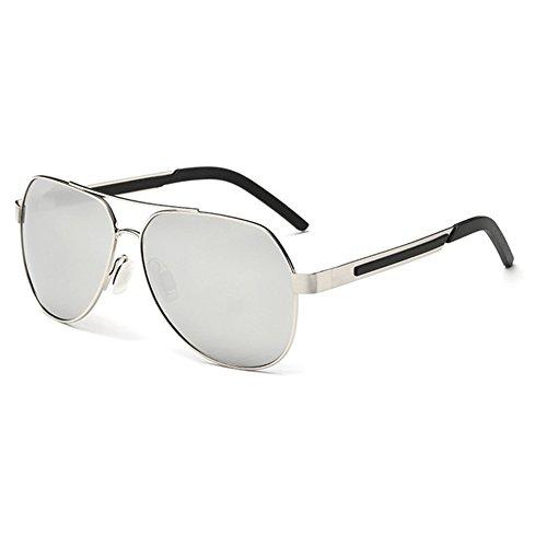 WYYY Sonnenbrillen Schutzbrillen Fahrbrille Männer Quadratische Box Im Freien Klassisch Polarisiertes Licht Sonnenschutz Anti-UVA UV-Schutz 100% (Farbe : Dunkelgrau) A7GVNYK2rp