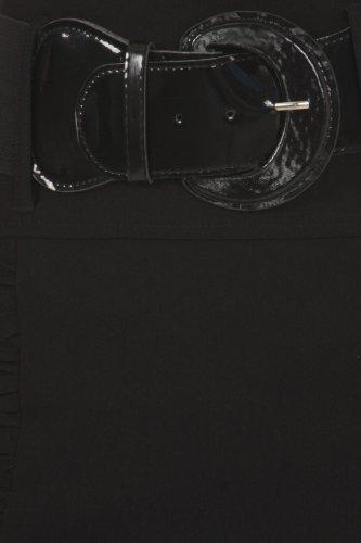 serre large Sakkas taille ceinture droite Jupe la Noir haute avec 8EEvw