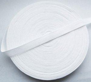 fettucce di cotone per cucito e sartoria da 20 mm 50 metri 3 bobine colore bianco Kraftz