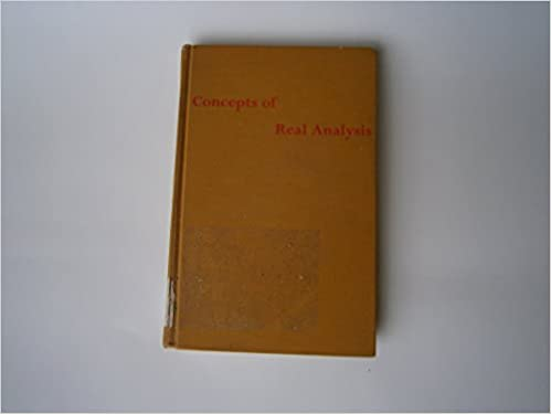 Concepts of real analysis