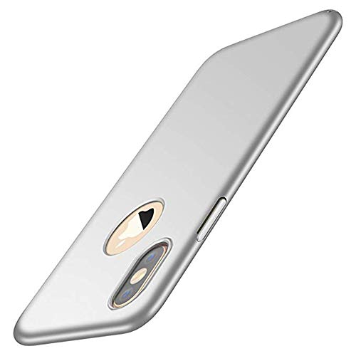 Compatible Case for iPhone X XS XR XS Max Slim Shell Hard PC Ultra Thin Protective Cover (silver, iPhone XS Max)