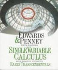 Single Variable Calculus with Analytic Geometry Early Transcendentals (5th Edition)
