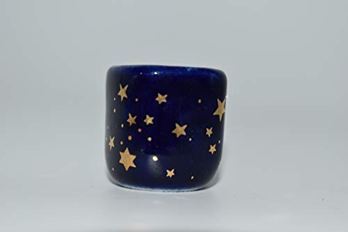 Nature's Enlightenment Golden Stars Blue Chime Candle Holder 1 pc