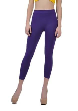 Soho Girls Junior's Capri Length Leggings - One Size, Purple