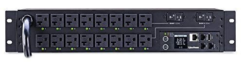 - CyberPower PDU41003 Switched PDU, 120V/30A, 16 Outlets, 2U Rackmount