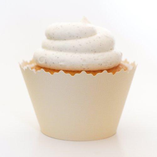 Crema de vainilla Envoltorios para cupcakes (–Conjunto de 12–Liners para cupcakes coordina con café, beige,...