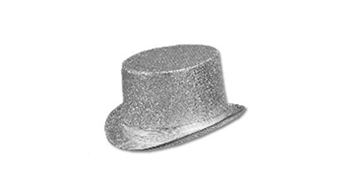 Sequin Glitter Top Hat (Silver Top Hat)