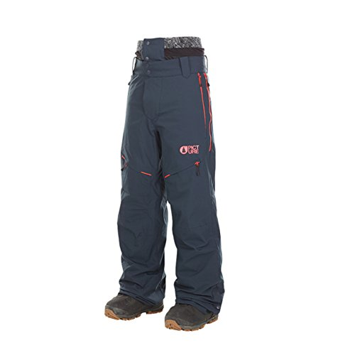Picture Organic Naikoon Ski Pant - Men's Dark Blue/Orange, - Pictures Males