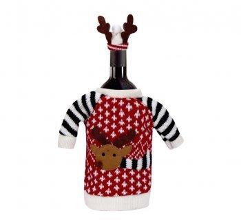 Weihnachtsgeschenke Haushalt.Design Freunde Weihnachtliche Weinflaschendekoration Kleiner Elch Weihnachten Weihnachtsdeko Dekoration Weihnachtsgeschenke Weinverschluss Weindeko