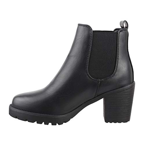 Elara Chunkyrayan 39 Ankle Noir Pour Boots Bottines Femme Eu Confortables Noir rqYSrw