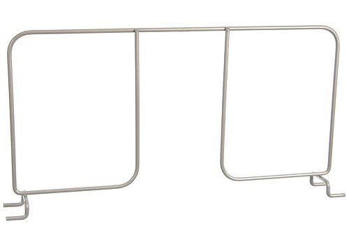 Organized Living freedomRail Shelf Divider for freedomRail Ventilated Shelves, 16-inch - Nickel