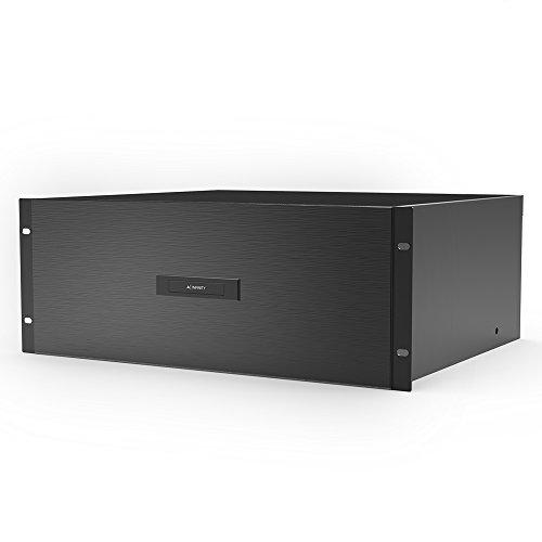 "Infinity Cabinet (AC Infinity Rack Mount Drawer 4U with Aluminum Faceplate, for 19"" Equipment Server AV DJ Cabinets Racks)"