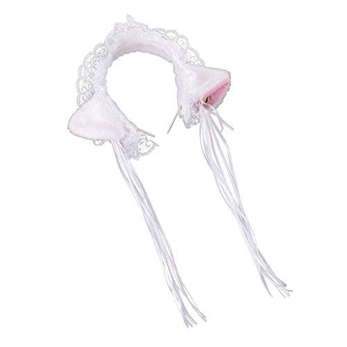 Dovewill Girl Sweet Lolita Hair Headwear Cat Ears Maid Headband Halloween Cosplay - 1, 10cm -