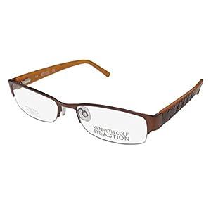 Kenneth Cole 0739-2 Womens/Ladies Designer Half-rim Spring Hinges Eyeglasses/Eye Glasses (53-17-135, Brown)