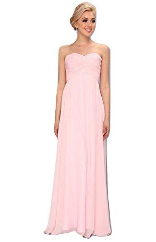 Faviana Women's Strapless Sweetheart Chiffon Dress 7338 Ice Pink (Faviana Prom Homecoming Dress)