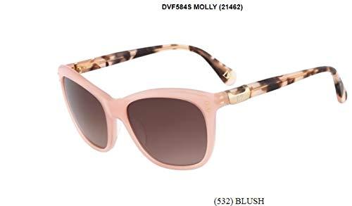 Diane von Furstenberg Women's Molly Blush/Mauve Gradient Sunglasses from Diane von Furstenberg
