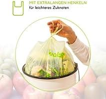 VivalaBio - Bolsas de basura ecológicas (10 L, con asa, 100 ...