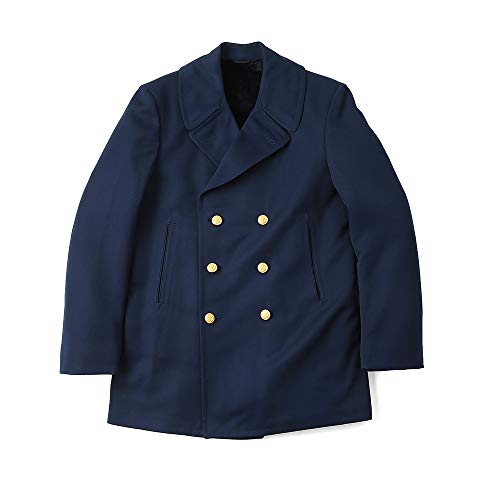 Vintage US Coast Guard Reefer Peacoat (Trench Overcoat) Navy Blue