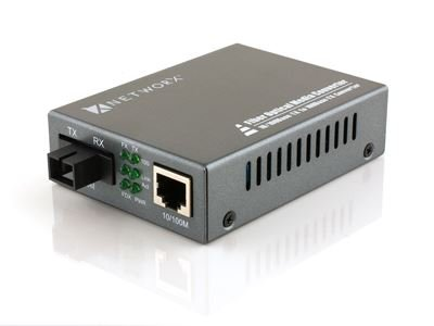 Fast Ethernet Fiber Media Converter - UTP to 100Base-BX - WDM SC, 30km, 1310T... by Networx